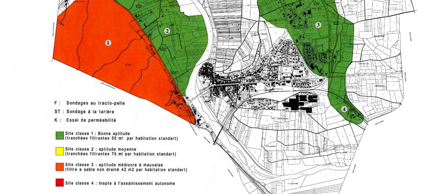 Carte étude d'assainissement